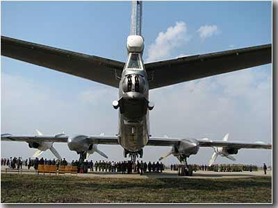 Самолёт перед торжественным строем